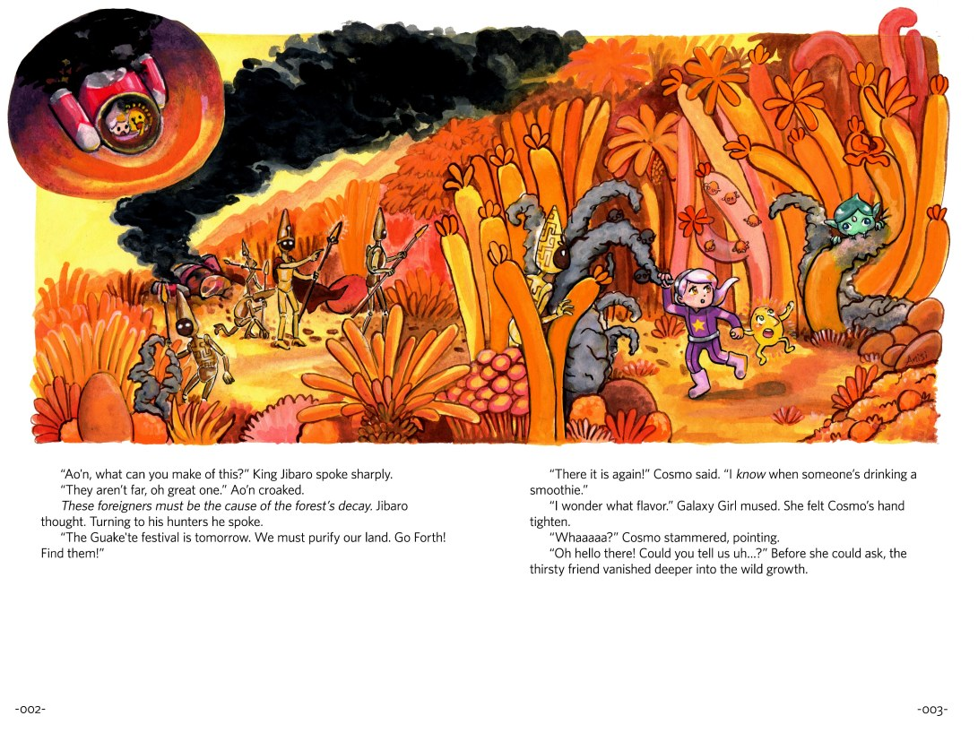 page_2_3_adventures_of_galaxy_girl_and_cosmo_story_2_page_spread