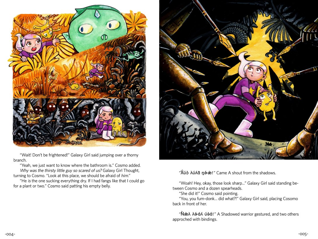 page_4_5_adventures_of_galaxy_girl_and_cosmo_story_2_page_spread